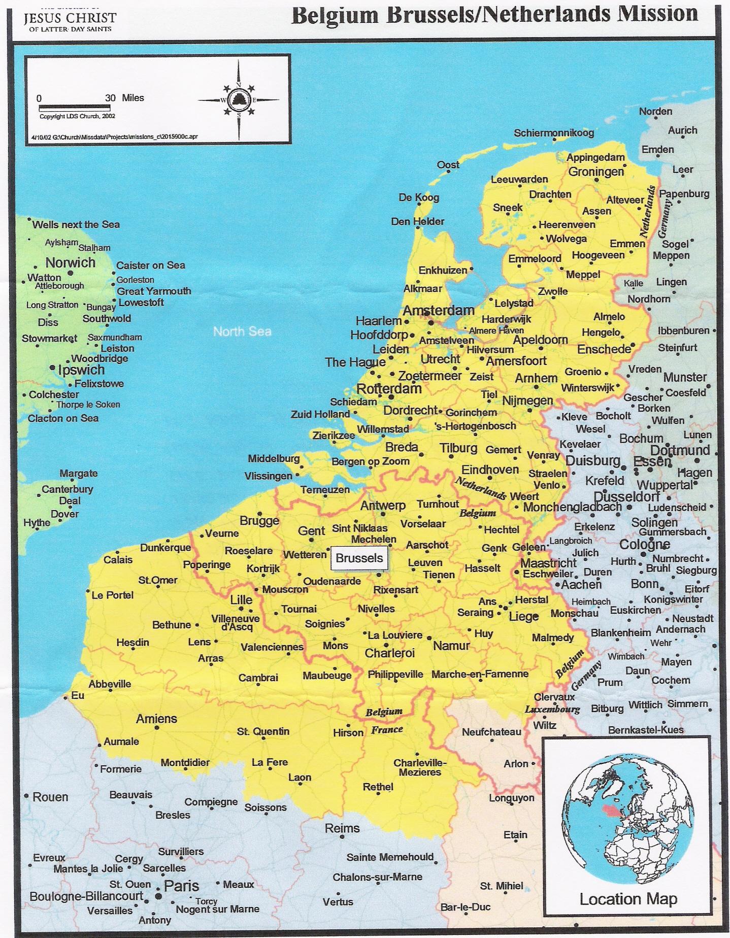 Belgium BrusselsNetherlands Mission Info